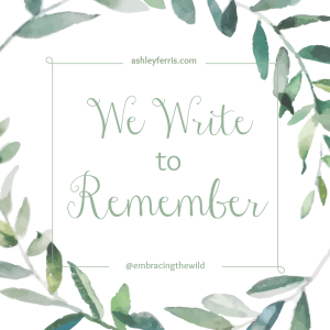 wewritetoremember